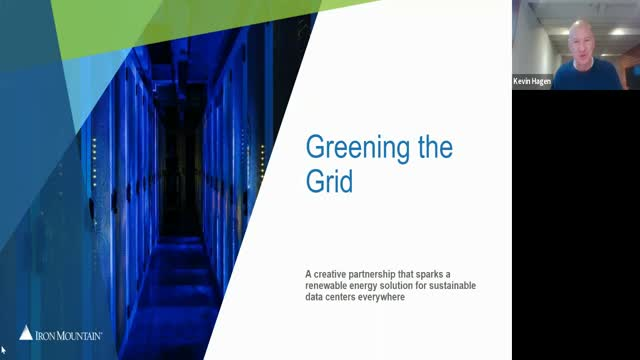 Greening the Grid: Iron Mountain Data Centre's Customer Case Study