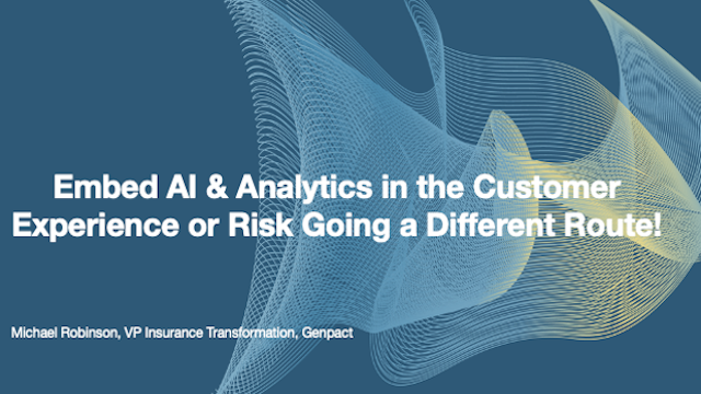 Embed AI & Analytics in the Customer Experience or Risk Going a Different Route!
