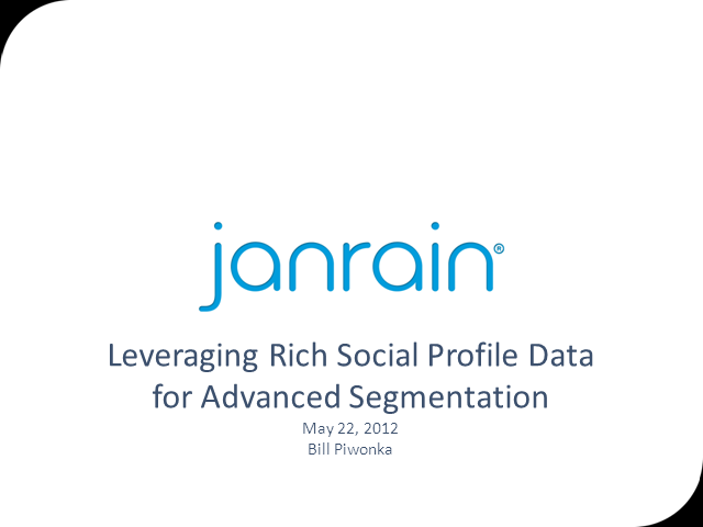 Leveraging Rich Social Profile Data for Advanced Segmentation