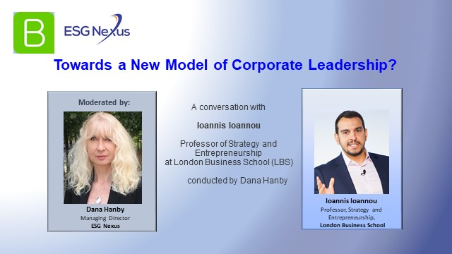 """""""Towards a New Model of Corporate Leadership?"""""""