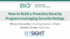 How to Build a Proactive Security Program Leveraging Security Ratings