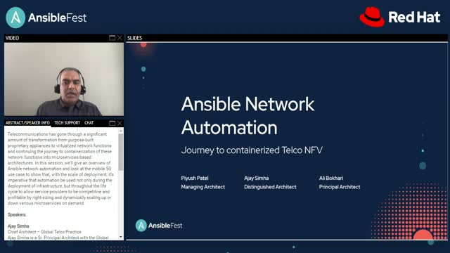 Ansible network automation on your journey to containerized Telco NFV