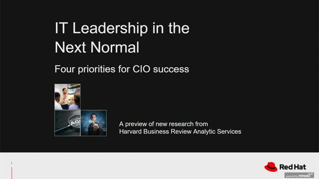 IT leadership for the next normal: New research from Harvard Business Analytics