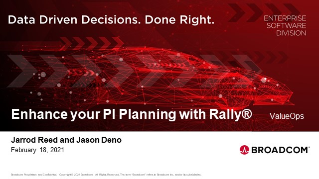 Enhance your PI Planning with Rally®