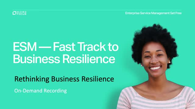 Business Resilience Delivered Through ESM
