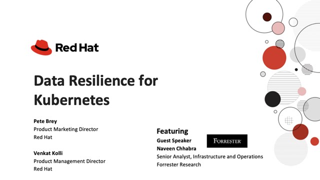 Data Resilience for Kubernetes