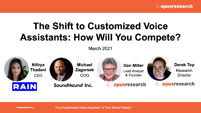 The Shift to Customized Voice Assistants: How Will You Compete?