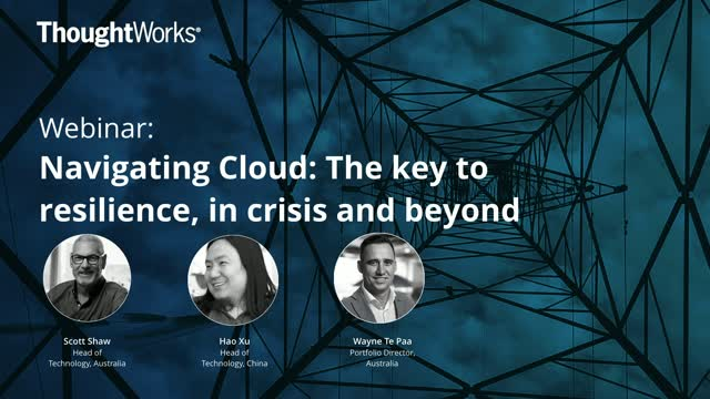 Navigating Cloud: The Key to Resilience, In Crisis and Beyond