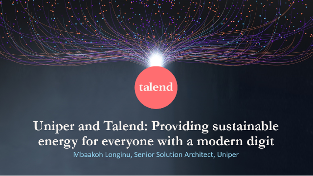 Uniper and Talend: Providing sustainable energy with a modern digital platform