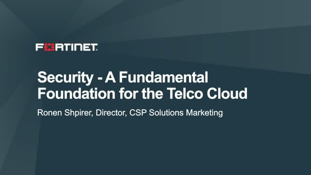 Security – A Fundamental Layer for the Telco Cloud