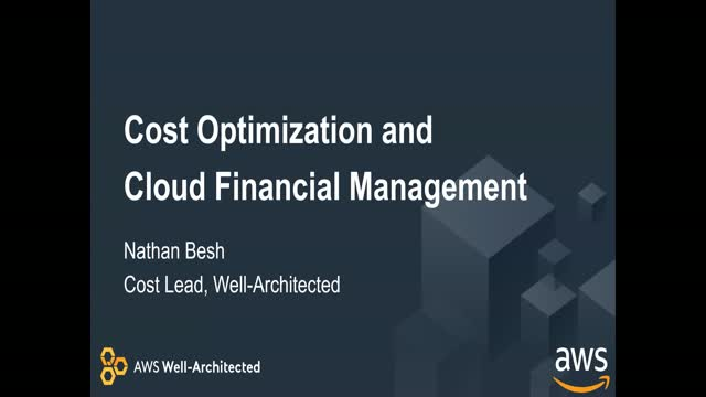 Deep Dive with AWS: Optimizing Costs with Cloud Financial Management