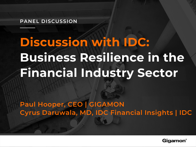 Webinar: Business Resilience in the Financial Industry Sector