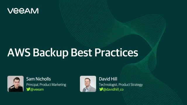 AWS Data Backup Best Practices
