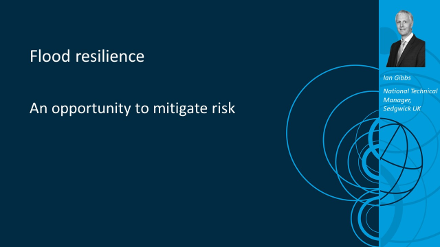Flood resilience: an opportunity to mitigate risk