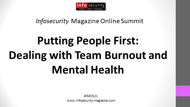 #IMOS21 Putting People First: Dealing with Team Burnout and Mental Health