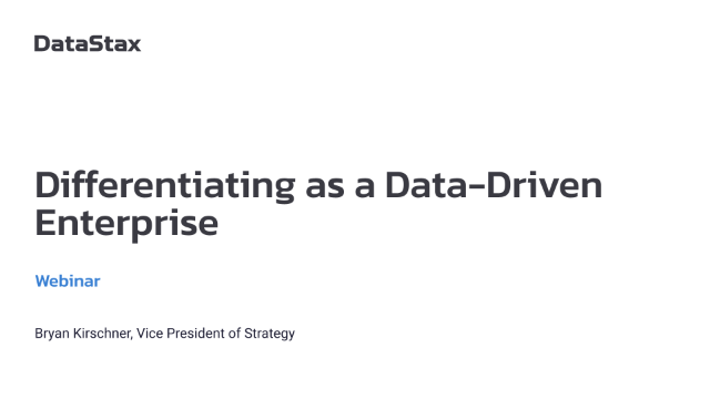 Differentiating as a Data-Driven Enterprise