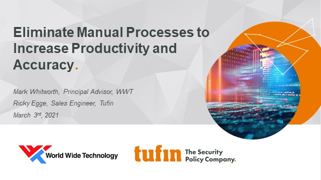 Eliminate Manual Processes to Increase Productivity and Accuracy