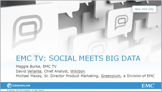 Social Meets Big Data: EMC TV Coverage