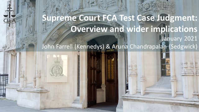 Supreme Court Judgment on FCA test case on BI Covid-19 claims