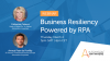 Business Resiliency powered by RPA in Europe