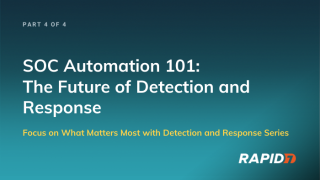 [APAC] Series: SOC Automation 101: The Future of Detection and Response