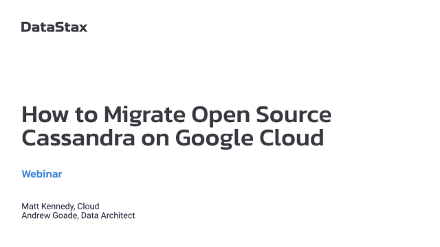 How to Migrate Open Source Cassandra on Google Cloud