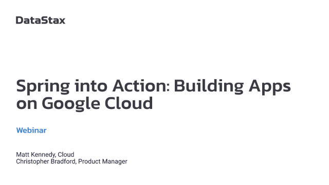 Spring into Action: Building Apps on Google Cloud