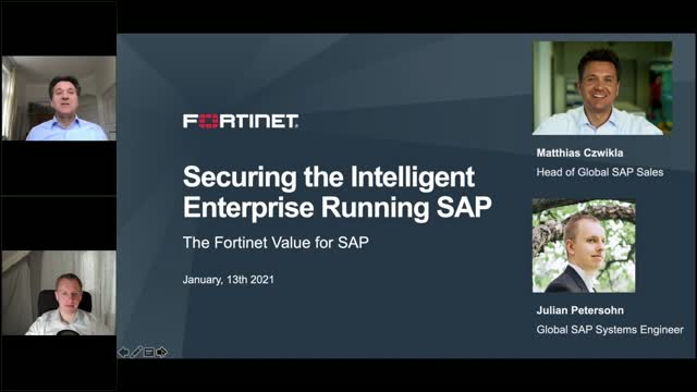 Fortinet Secures the Intelligent Enterprise Running SAP