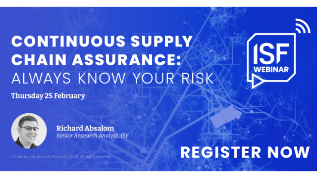 Continuous Supply Chain Assurance: Always know your risk