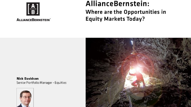 Where Are the Opportunities in Equity Markets Today?