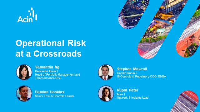 Operational Risk at a Crossroads