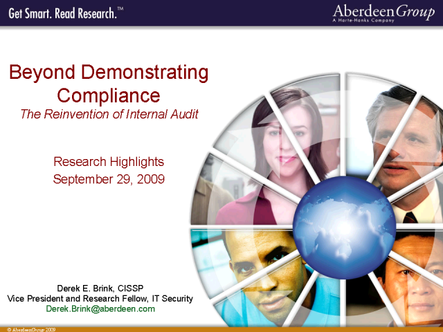 Beyond Demonstrating Compliance-The Reinvention of Internal Audit