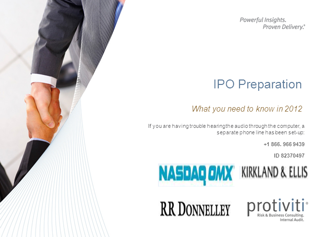 IPO Preparation:  What you need to know in 2012