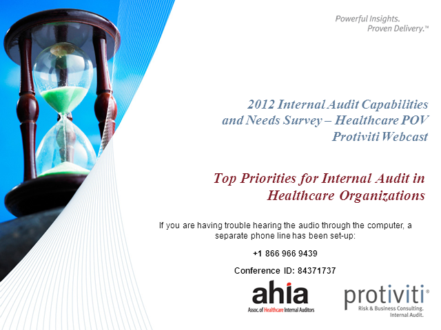 Top Priorities for Internal Audit in Healthcare Provider Organizations