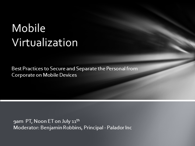 Mobile Virtualization Best Practices