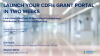 Launch Your CDFI's Grant Portal in Two Weeks