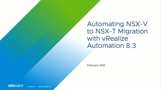 Automating NSX-V to NSX-T Migration with vRealize Automation 8.3