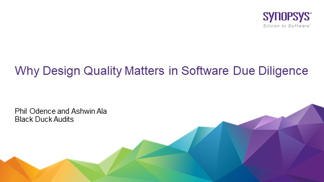 Why Design Quality Matters in Software Due Diligence