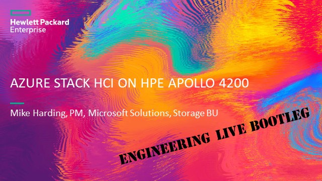 Cloud-connected hyperconverged with Azure Stack HCI on HPE Apollo 4200