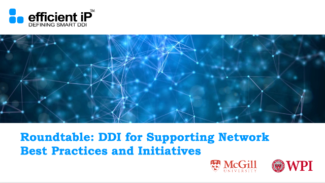 Roundtable: DDI for Supporting Network Best Practices and Initiatives