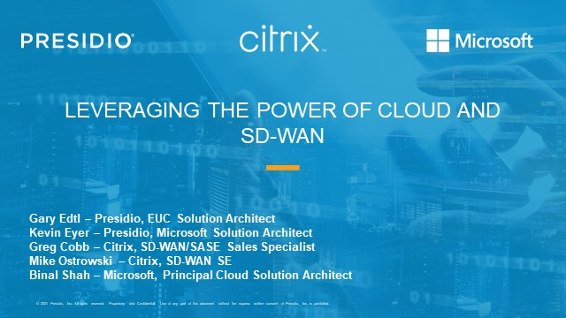Leveraging the Power of Cloud and SD-WAN