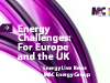 """Energy Challenges - For Europe And The UK`"" - Free Webinar"