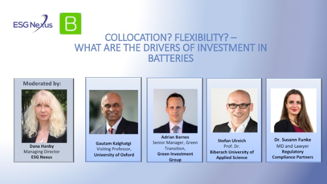 Collocation? Flexibility? – what are the drivers of investment in batteries?