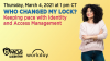 Who Changed my Lock? Keeping Pace with Identity and Access Management