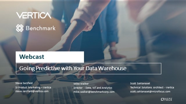 Going Predictive with your Data Warehouse