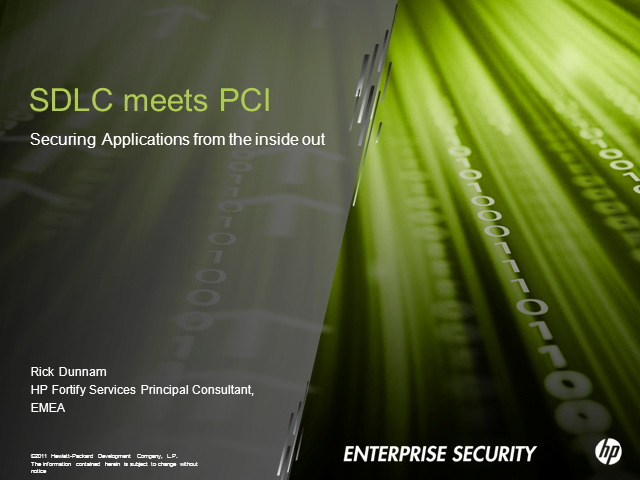 SDLC Meets PCI Compliance: Securing Applications From the Inside Out