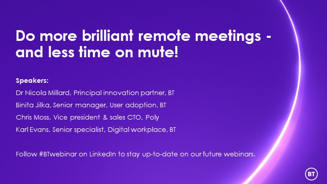 Do more brilliant remote meetings – and less time on mute