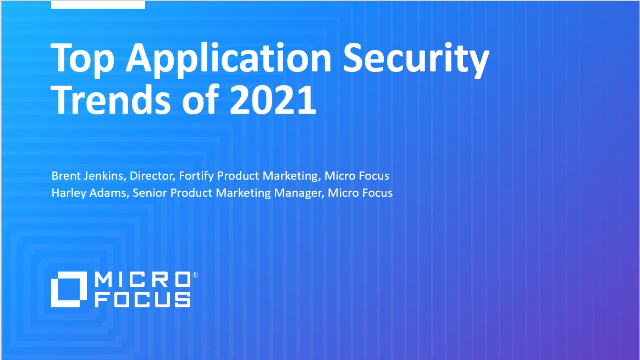 Top Application Security Trends of 2021