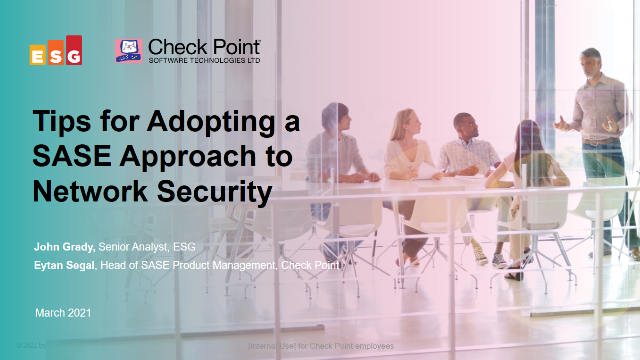 Tips for Adopting a SASE Approach to Network Security