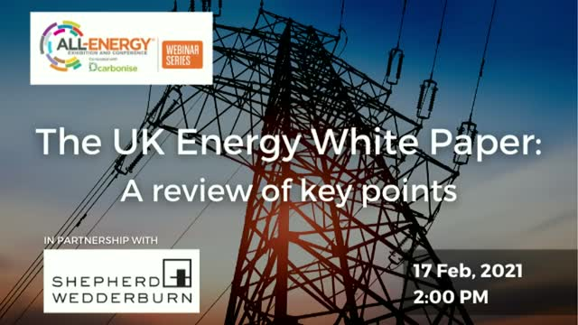 The UK Energy White Paper: A review of key points